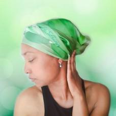 Emeralds Long Silk Scarf